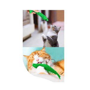 Langostino limpiadientes con catnip